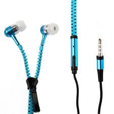Tai nghe kéo khóa chống rối dây zipper -DC1215 (màu ngẫu nhiên)