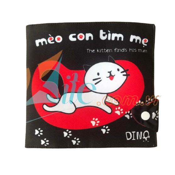 Sách Vải Mèo Con Tìm Mẹ – Đồ Chơi Sạch Cánh Diều – Sách Vải Tương Tác