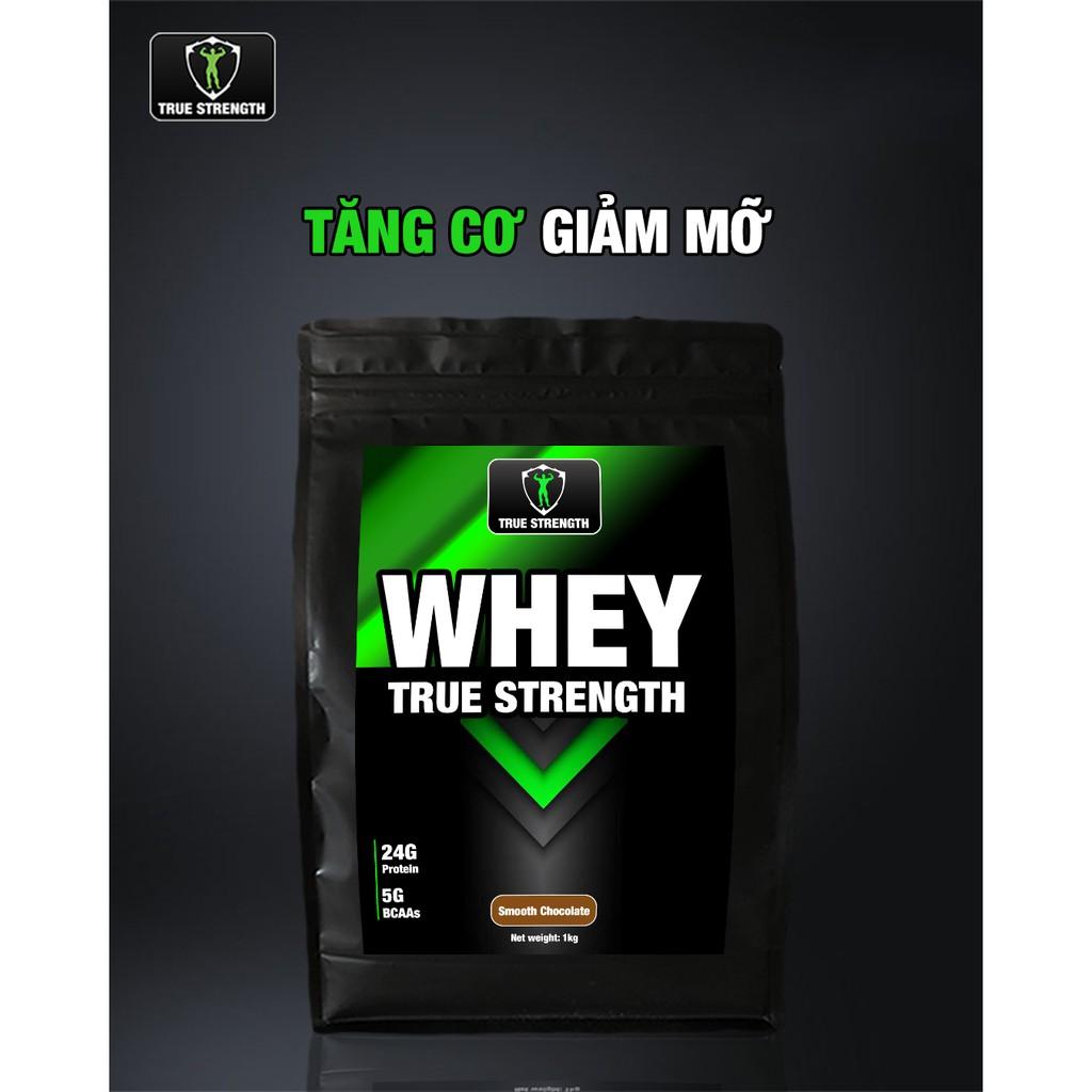 Whey True Strength - Tăng Cơ Giảm Mỡ - Loại 1kg