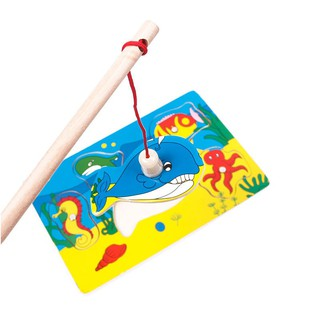 Magnetic Fishing Toy Sea Wood Game Animals Jigsaw Puzzle