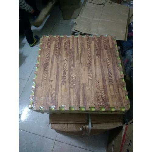 Thảm xốp vân gỗ lót sàn 1 bộ 6 miếng KT 60x 60 cm - MS0011