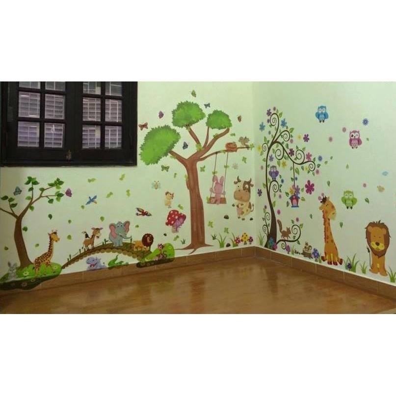 Decal dán tường kết hợp vườn thú trong nhà( sư tử nâu, bò, thú qua cầu) - 2411281 , 128392351 , 322_128392351 , 180000 , Decal-dan-tuong-ket-hop-vuon-thu-trong-nha-su-tu-nau-bo-thu-qua-cau-322_128392351 , shopee.vn , Decal dán tường kết hợp vườn thú trong nhà( sư tử nâu, bò, thú qua cầu)