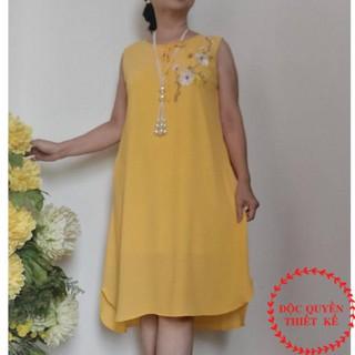 [Loại Cao Cấp] Đầm Cho Mẹ- Đầm Trung Niên Chữ A Chất Liệu Voan Xốp Thái Có Lót Thun Loại Cao Cấp Co Giãn