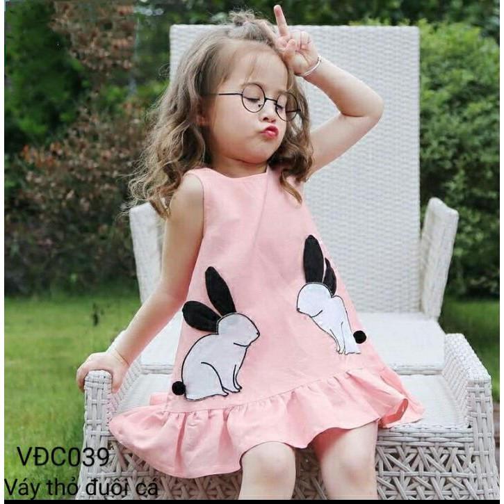 Váy bé gái sỉ ri váy thỏ cho bé