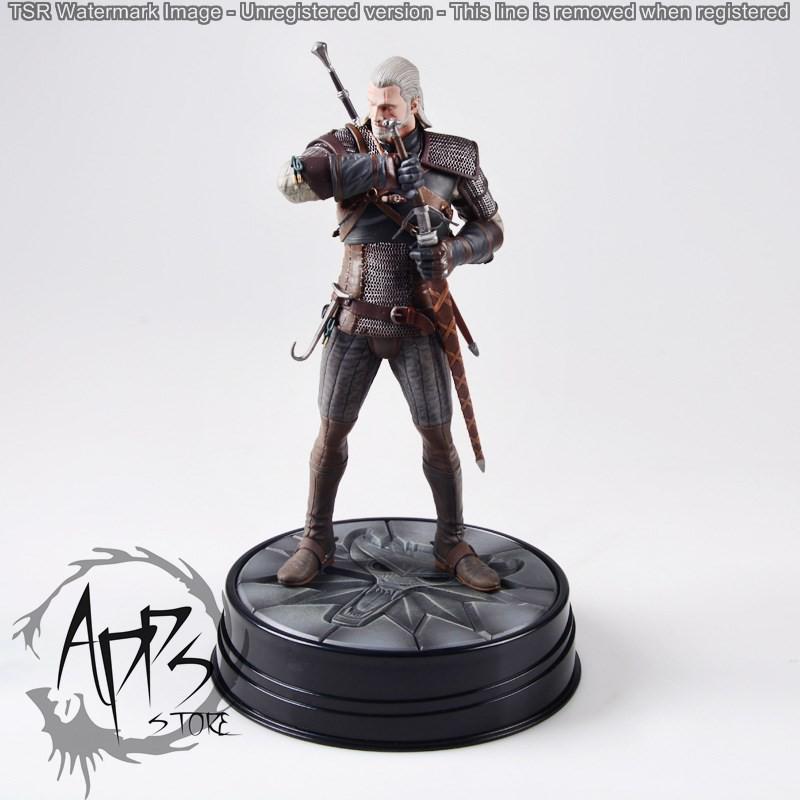 ตุ๊กตาของเล่น the witcher sorcer 3 game hunter magic man white wolf jrot ของเล่นสําหรับเด็ก
