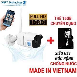 Camera IP Wifi ngoài trời VNPT Technology ONE HOME 2 phiên bản chống nước kèm thẻ 16Gb hàng Việt Nam thumbnail
