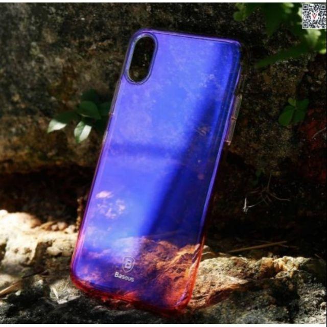 Ốp Lưng Baseus đổi màu cho IPhone X - Tặng kính cường lực