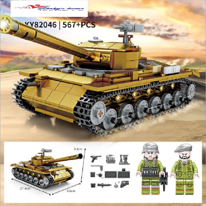 Bộ đồ chơi lắp ráp xe tăng M26 KY82046