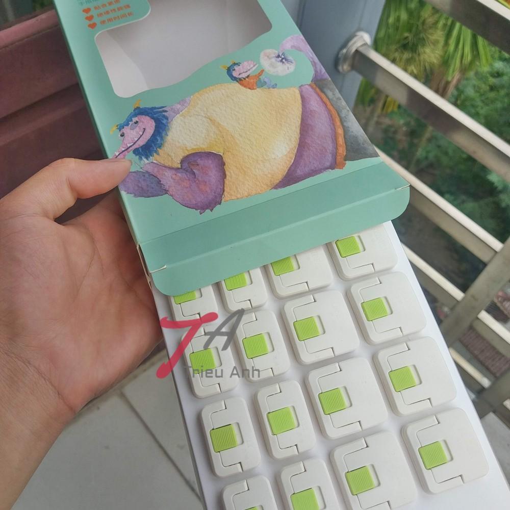 (20 chiếc) Bộ sản phẩm bịt ổ điện an toàn cho trẻ – có khóa đóng mở thuận tiện - Trieu Anh