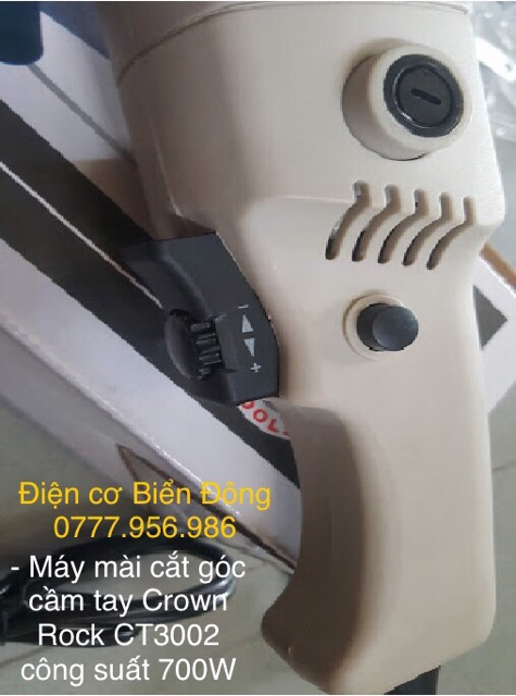 Máy mài cắt góc cầm tay  FREESHIP Tặng đĩa mài 29k Máy mài cắt góc cầm tay Crown Rock THAILAND CT3002 công suất 700W