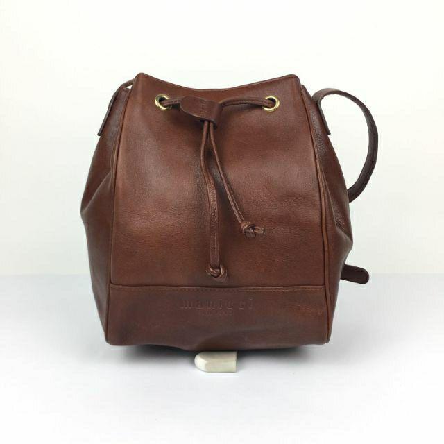 Thanh lý túi da thật, dáng bucket, hiệu Maniricci Miano đẹp, mới 90%, da đẹp