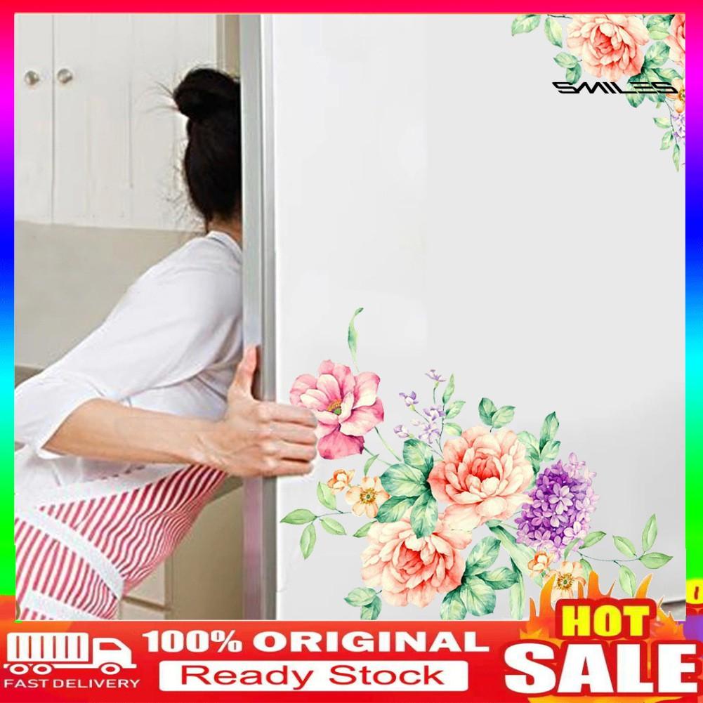 Miếng Dán Trang Trí Toilet Hình Hoa Mẫu Đơn Xinh Xắn