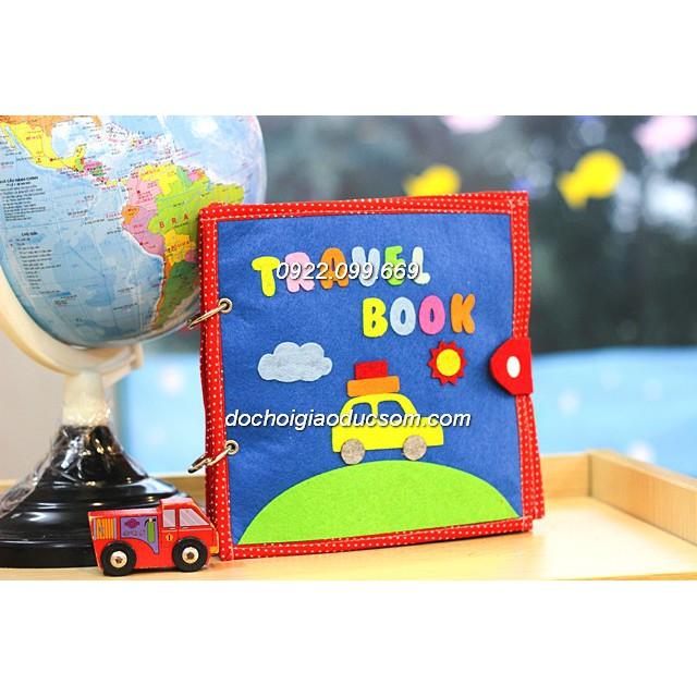 Sách vải handmade TRAVEL QUIET BOOK phát triển kỹ năng cho bé