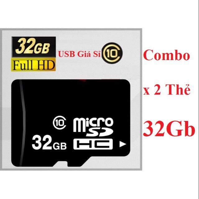 [ Combo x 2] Thẻ nhớ 32Gb OEM Class 10
