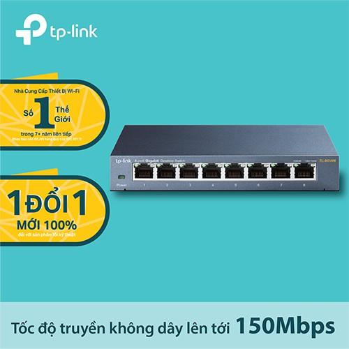TP-Link TL-SG108 Bộ chia tín hiệu internet 8 cổng 10/100/1000Mbps Hãng phân phối chính thức