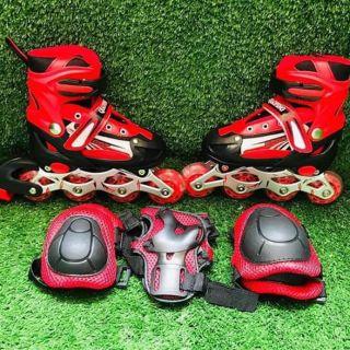 Giày trượt Patin tặng kèm bảo hộ tay chân trẻ em