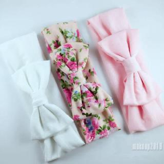 Mu♫-3Pcs/Set Bow Headband Elastic Hair Band Baby Girls Kids Hair Accessories#