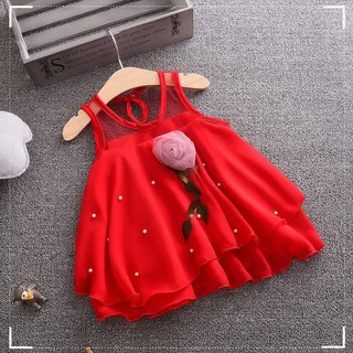 Đầm voan hoa xinh xắn dành cho bé gái