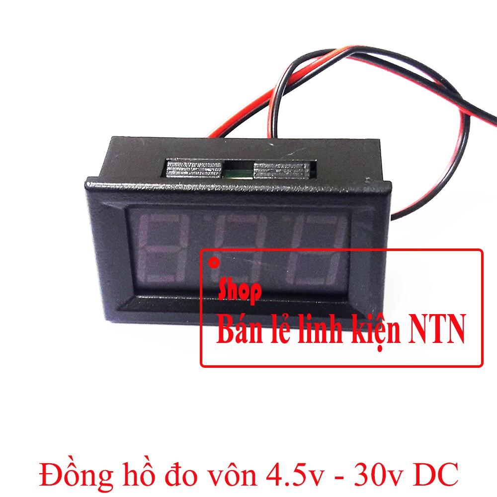 Đồng hồ đo vôn 4.5 - 30v DC màn hình 0.56 inch - 3418962 , 1114071507 , 322_1114071507 , 29000 , Dong-ho-do-von-4.5-30v-DC-man-hinh-0.56-inch-322_1114071507 , shopee.vn , Đồng hồ đo vôn 4.5 - 30v DC màn hình 0.56 inch