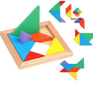 Đồ Chơi Xếp Hình Cho Bé - Đồ Chơi Gỗ Montessori Bộ Xếp Hình Nhiều Màu Sắc, Giáo Dục Đầu Đời Cho Bé SmartHome Toys thumbnail