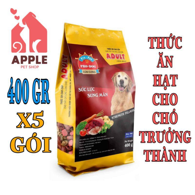 [Mã 77FMCGSALE1 giảm 10% đơn 250K] [PRO DOG ADULT] [400GR] Thức ăn hạt cao cấp dành cho chó trưởng thành