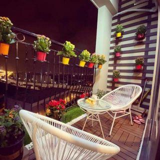 Yêu ThíchBộ bàn ghế ban công giả mây RIBO HOUSE bền với thời gian rất phù hợp để ngồi uống trà cafe bộ gồm bàn kính và 2 ghế