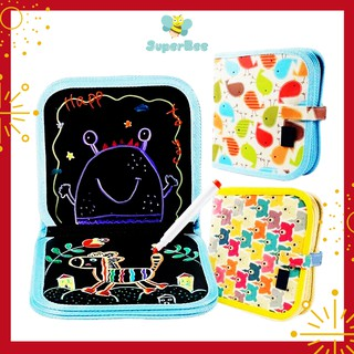 (2-3 tuổi) Sách Vẽ Cho Bé Xóa Được, Kèm 12 Cây Bút Màu Nước, Sách Tập Vẽ Mỹ Thuật SuperBee Cho Bé, An Toàn Sức Khỏe thumbnail