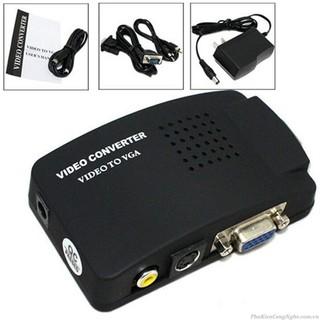 [Mã ELFLASH5 giảm 20K đơn 50K] Bộ chuyển tín hiệu AV, Svideo sang VGA (đen).