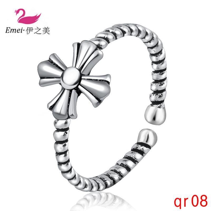 บุคลิกภาพแหวนเงินย้อนยุคง่ายแหวนไทย