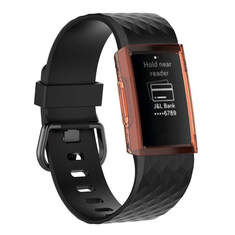 Vỏ Tpu Bảo Vệ Cho Đồng Hồ Thông Minh Fitbit Charge 3 / 4 (40Mm)