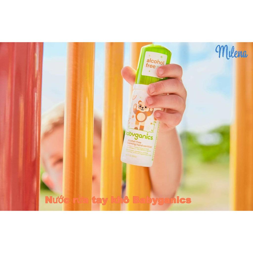 [Nhập Mỹ] Nước Rửa Tay Khô Babyganics Cho Trẻ Sơ Sinh Từ 0 Tháng, FDA Hoa Kỳ, 100% Tự Nhiên, Ko Dị Ứng Date 10/21