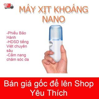 [FREESHIP 50K]Máy xịt khoáng Nano mini- Giữ ẩm da, chống lão hoá, làm mát da cấp tốc( có màu hồng)