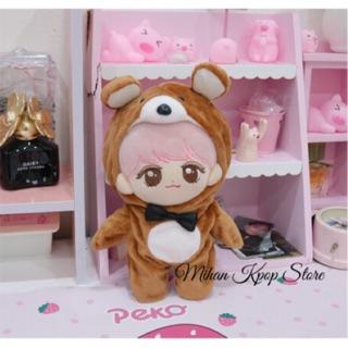 Outfit gấu nâu doll 20cm