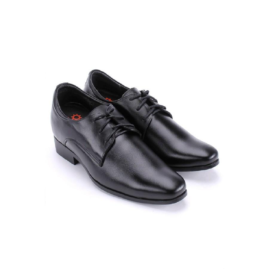 Giày nam tăng chiều cao Huy Hoàng màu đen HP7189