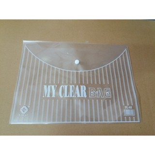100 chiếc Túi Clearbag khổ A trung TL02 (túi khuy, túi cúc, bìa nút)
