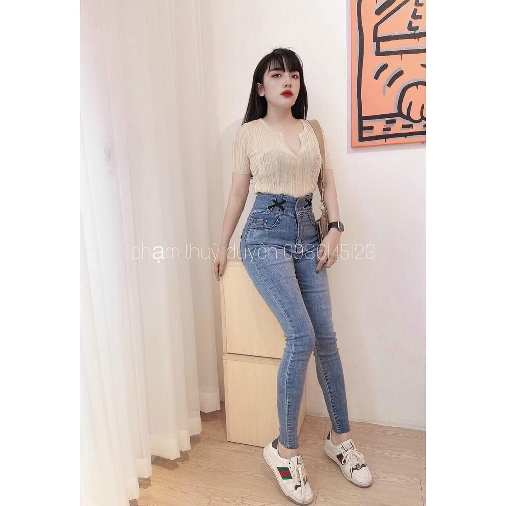 7 Mẫu Quần Jean nữ Quảng Châu 2020 theo size từ 40-62kg phối đồ cực chất