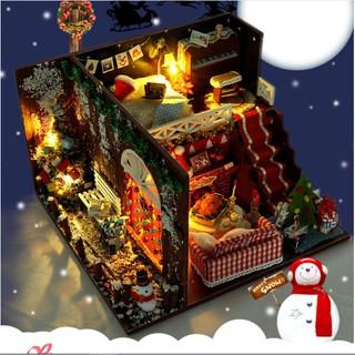 Nhà búp bê DIY Christmas một Giáng sinh đã về với căn biệt thự màu Chocolate