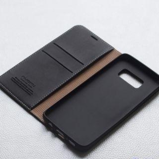Bao da Nuoku xịn dạng ví Galaxy S8 - Đen, Nâu thumbnail