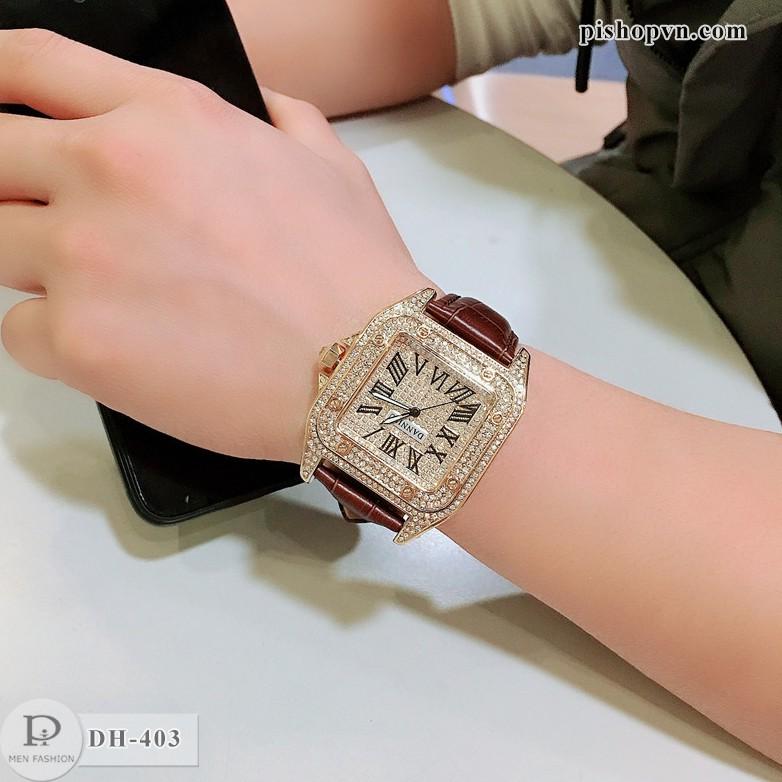 Đồng hồ nam HL đính full đá cực đẹp Bảo hành 12 tháng DH403 donghonam
