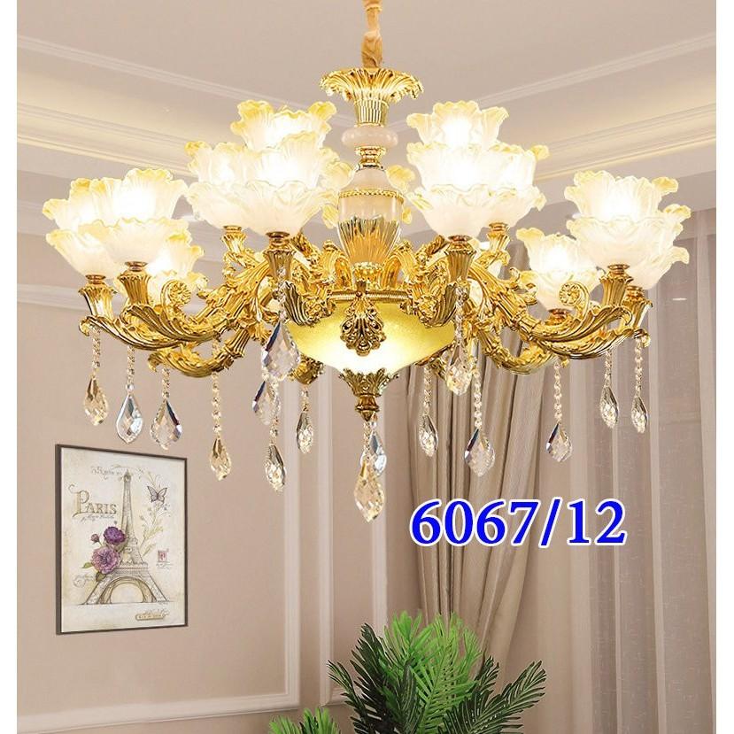 Đèn Chùm ROYAL Cao Cấp Chất Liệu Đá Trang Trí Phòng Khách, Nhà Hàng, Khách Sạn Cực Sang Trọng