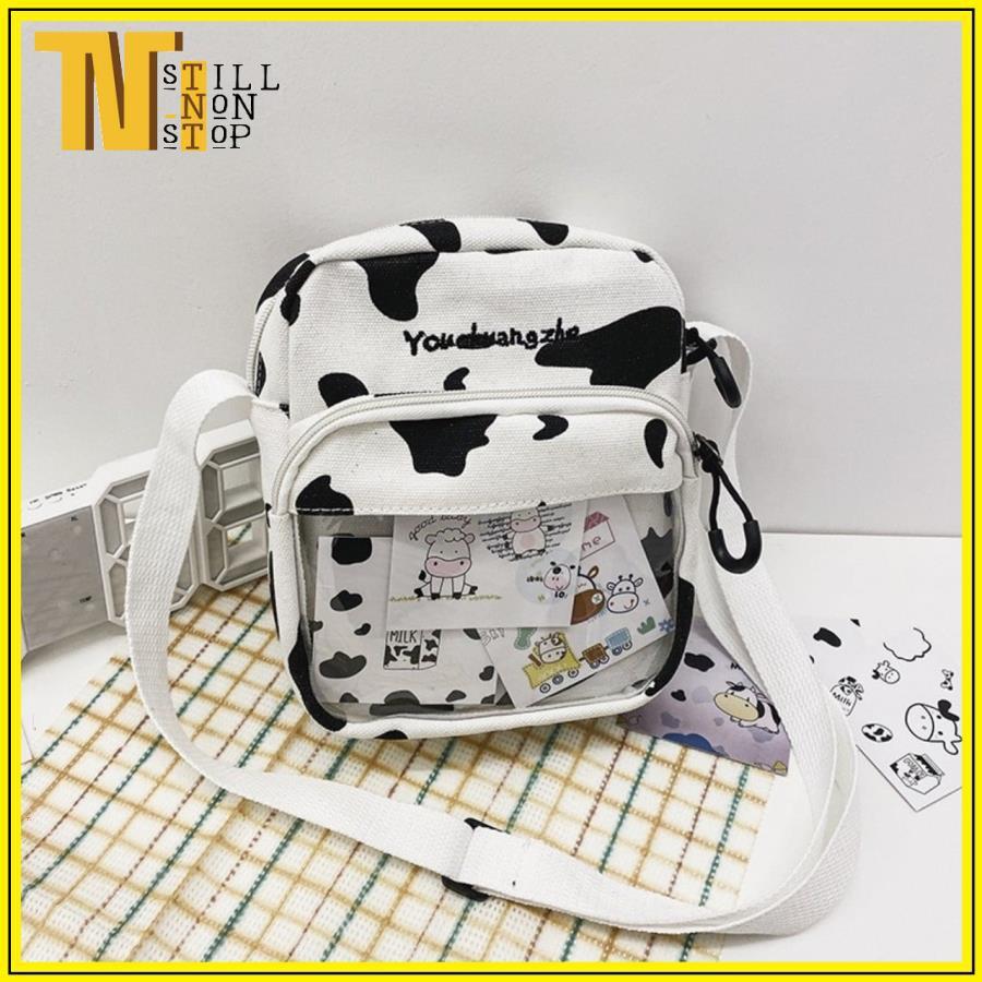 Túi đeo chéo, đeo vai bò sữa trong suốt CT01 - Hot Trend