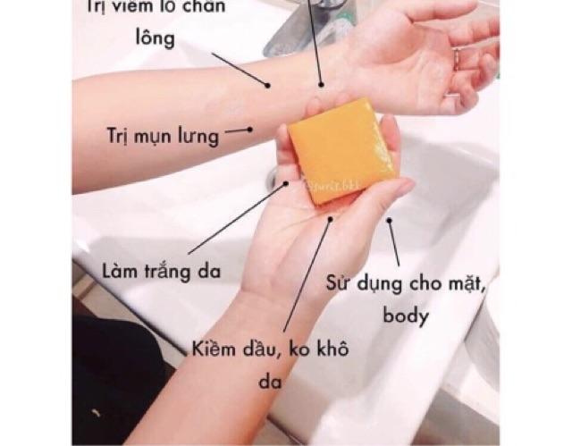 [RẺ VÔ ĐỊCH] Xà phòng nghệ cam trắng da mụn thâm Thái Lan