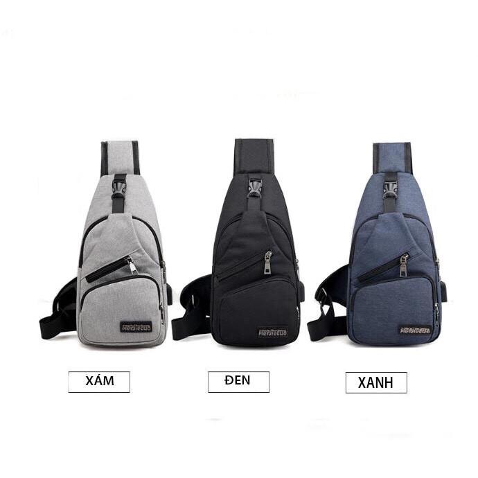❤️FREESHIP❤️ Túi Đeo Chéo Uniex Có Cổng Sạc USB -Tặng Thắt Lưng Da Cao Cấp - unisex.shopp