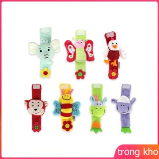 Baby Wrist Rattles Educational Development Soft Animal Toy