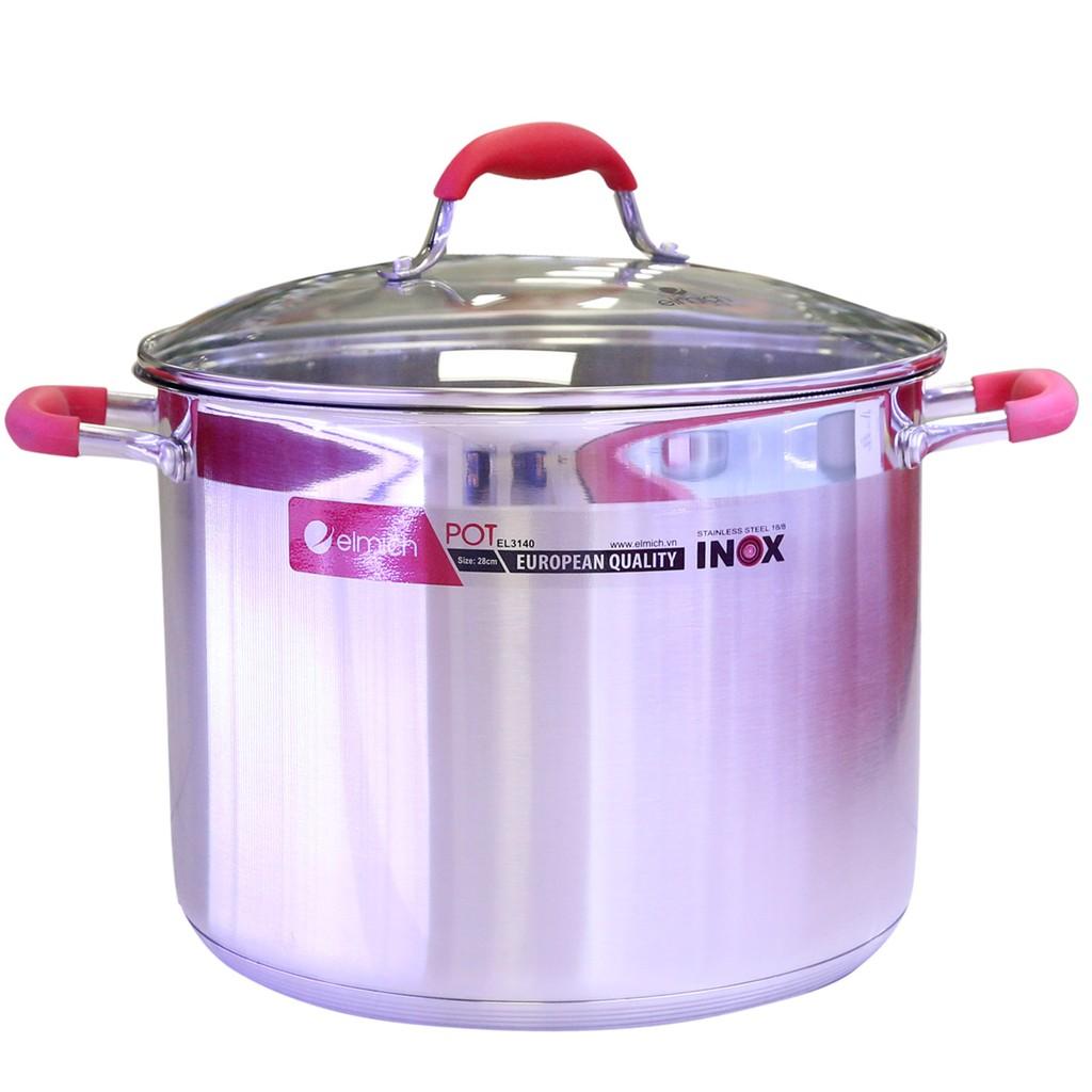 Nồi luộc gà inox Elmich EL-3140 28cm 12L dùng bếp từ - 2420883 , 338184584 , 322_338184584 , 999000 , Noi-luoc-ga-inox-Elmich-EL-3140-28cm-12L-dung-bep-tu-322_338184584 , shopee.vn , Nồi luộc gà inox Elmich EL-3140 28cm 12L dùng bếp từ