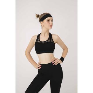 Áo tập Nữ OMG Sport kiểu bra lưới 3 lỗ- màu Đen - BG081_BL thumbnail