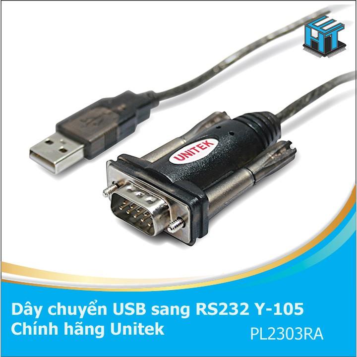 Cáp USB to RS232 (USB to com) Unitek Y-105 Chính hãng [HTE Quy Nhơn CN2]