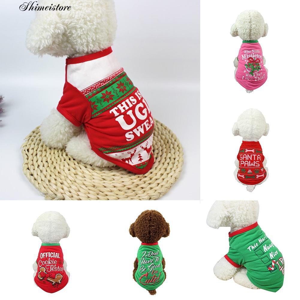 Áo thun ngắn tay cổ tròn in chữ đáng yêu cho cún cưng