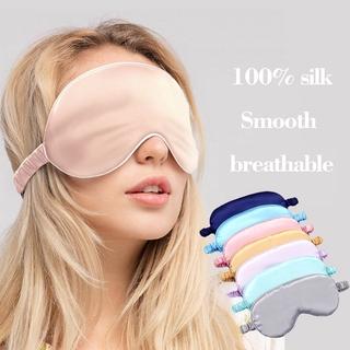 (hàng Mới Về) Miếng Bịt Mắt Ngủ 100% Lụa Nguyên Chất Mềm Mại Nhỏ Gọn thumbnail