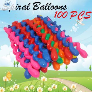 L1 100pcs Decoration Rubber Party Birthday Wedding Twist Screw Balloons